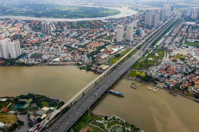 Saigons bird eye view from the tallest building in Vietnam - 4