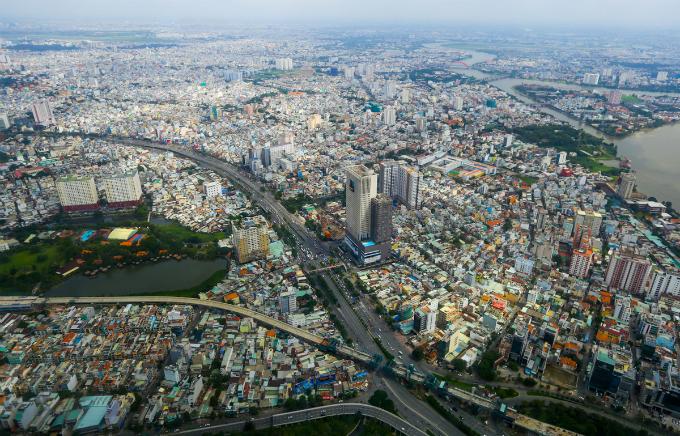 Saigons bird eye view from the tallest building in Vietnam - 5