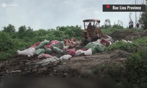 Bac Lieu Province burying itself in a mountain of waste