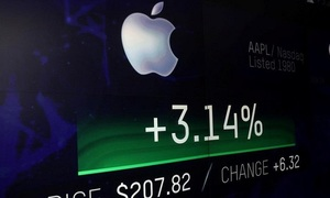 Apple breaches $1 trillion stock market valuation