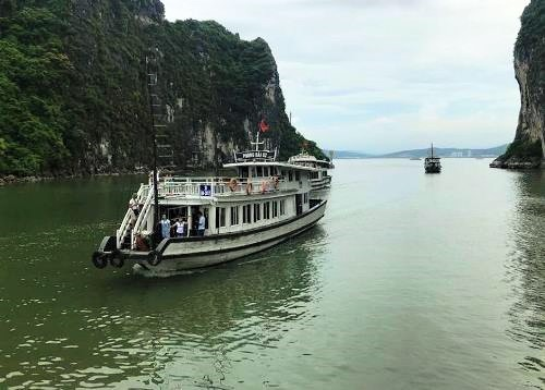 20 cruise ships suspended in Vietnam's Ha Long Bay