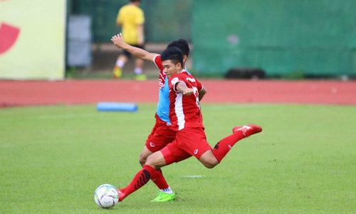 U23 Vietnam football team practices for Asian Games