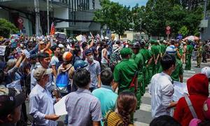 Many demonstrators were hired, says Vietnam's top cop