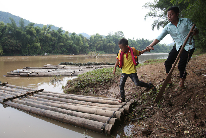 Villagers in northern Vietnam use bamboo to walk on water - 4