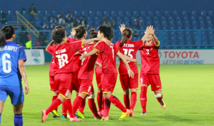 Vietnam women's football team beats Thailand, in Asiad quarters