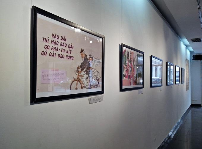 Hanoi cartoon exhibition revisits subsidised humor