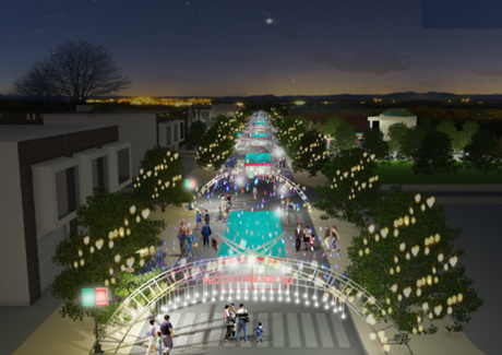 The proposed design of the night market