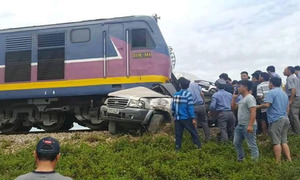Car-train collision kills 2 in central Vietnam