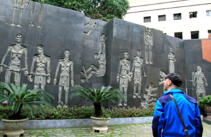 Hoa Lo prison, which has been turned into a museum, was home to 500 prisoners of war when McCain was held there. Photo by AFP/Nhac Nguyen
