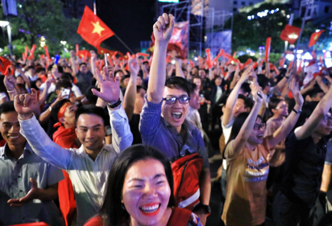 In Saigon, thousands of fans have poured into the city center to celebrate the historic win of the Vietnamese men who have written a new chapter for Vietnams football history.