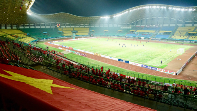 Vietnamese flag at the stadium.