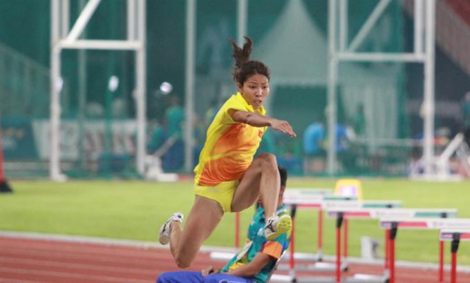 Vietnamese woman leaps to nation's second Asiad gold