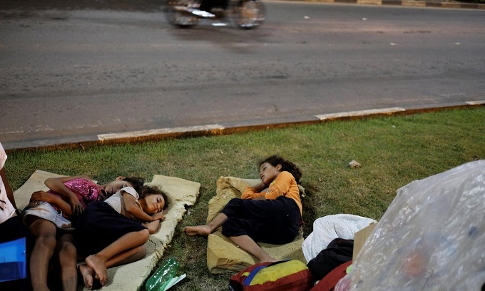 Venezuelan immigrants survive on the streets in Brazil