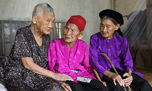 In Vietnam, three centurion sisters are a picture of health