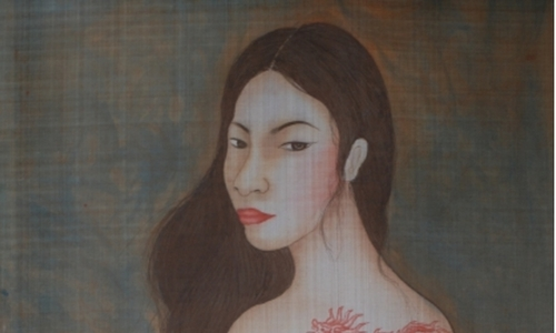 Silk paintings collection celebrates women's beauty, complexity
