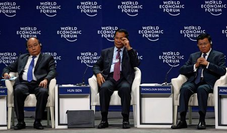 Cambodia leader tells world to stay out of Indochina politics