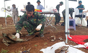 14 Vietnam War martyrs' remains found in central Vietnam