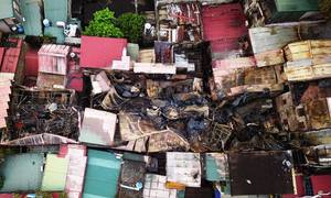 Two charred bodies found in Hanoi blaze wreckage