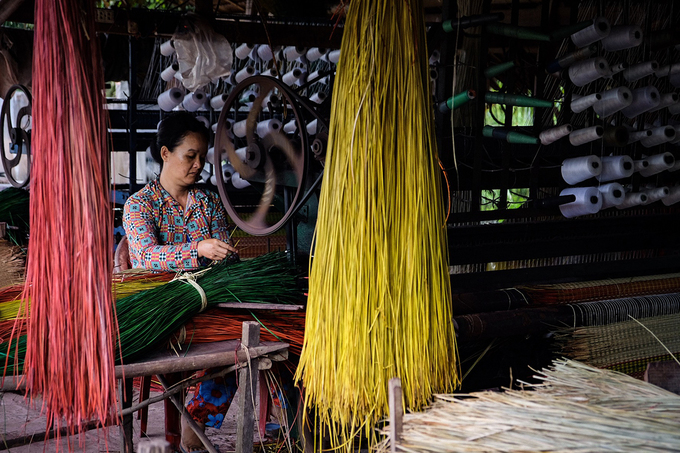 100-year-old mat making village in south Vietnam still going strong - 2