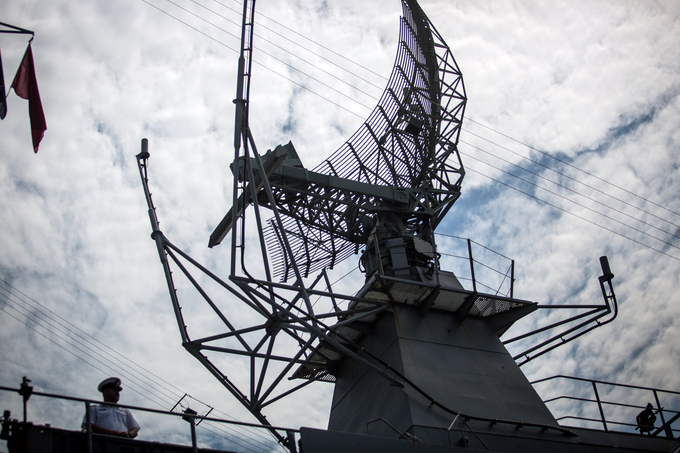 The ship has a radar system for combat and surveillance purpose.