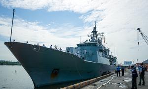 A look inside New Zealand naval frigate Te Mana at Saigon Port