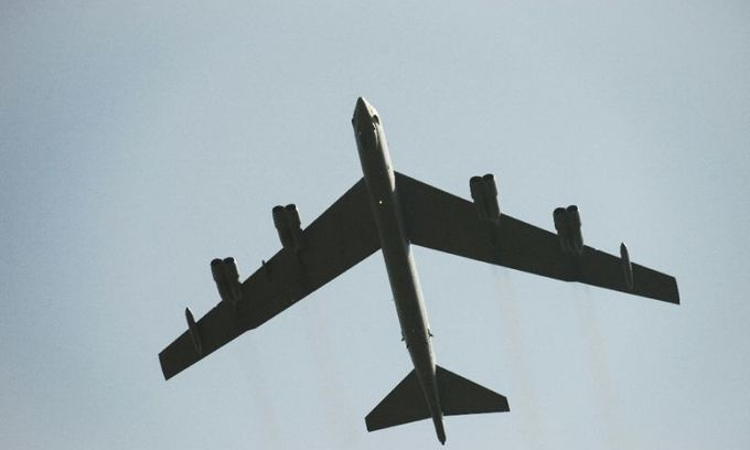 US B-52s fly over South and East China Seas