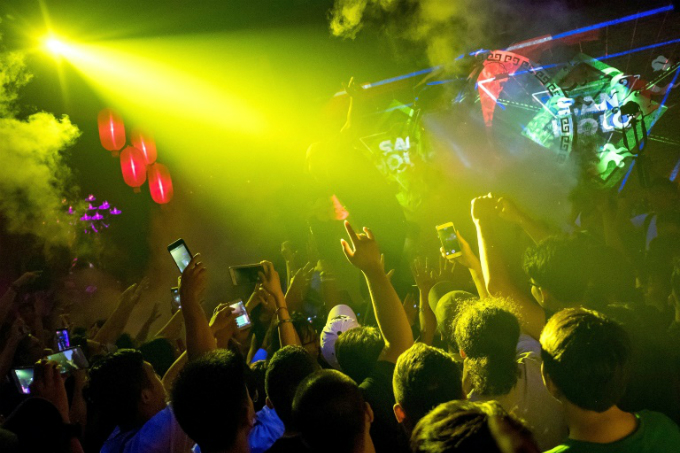 Booming numbers of hard-partying youngsters have put Vietnam onto the EDM map in recent years. Photo by AFP/Linh PHAM