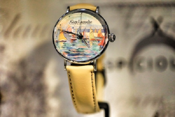 Guy Laroches watch with French painting.