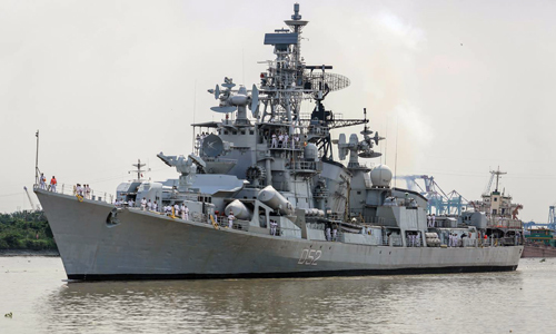 Indian warship arrives in Ho Chi Minh City