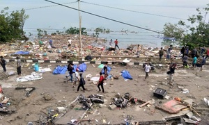 Scores killed in Indonesia quake-tsunami