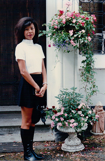 Suzanne Thi Hien Hook in the suburb of London in 1994. Photo courtesy of Suzanne.