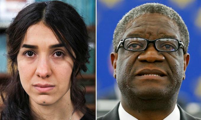 Congolese Mukwege, Iraq's Murad win 2018 Nobel Peace Prize