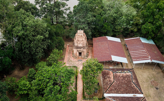 A temple in southern Vietnam reflects an Indian past
