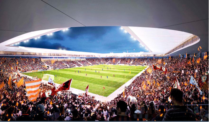 The new Hang Day stadium will have a capacity of 20,000 people. Artist impression acquired by VnExpress