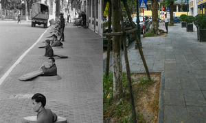 Hanoi's old quarter, now and then