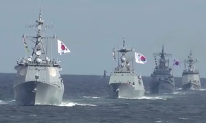 South Korea hosts international fleet review without Japan