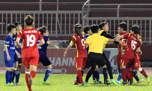 Players' brawl mars national women's football semifinal
