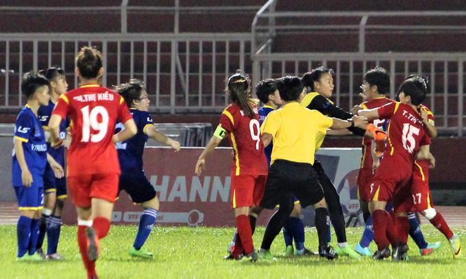 Players' brawl mars national women's football semifinal