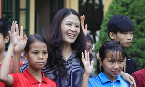 A poster child for teaching kids with disabilities in Vietnam