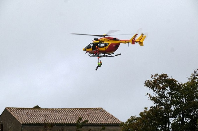 Authorities also rushed in helicopters to assist with rescue operations byAFP