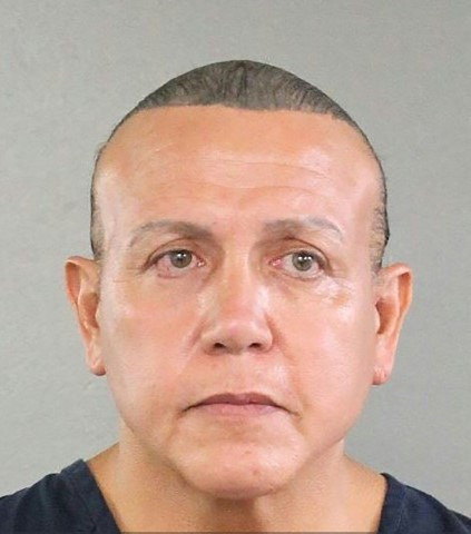 Cesar Sayoc, pictured in a 2015 mugshot from the Broward County Sheriffs Office, was charged with five federal crimes. Photo by AFP/Michele Eve Sandberg