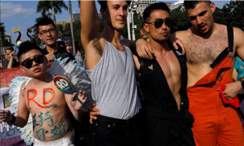 Hundreds of thousands march for marriage equality in Taiwan