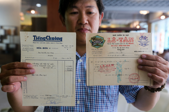 Saigon man keeps tabs on old receipts and other papers - 1