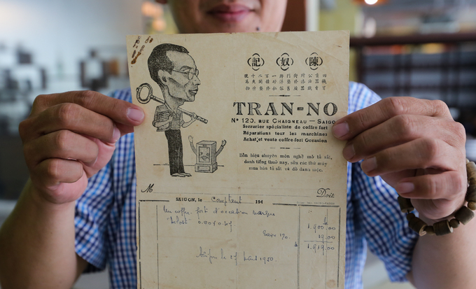 Saigon man keeps tabs on old receipts and other papers - 2