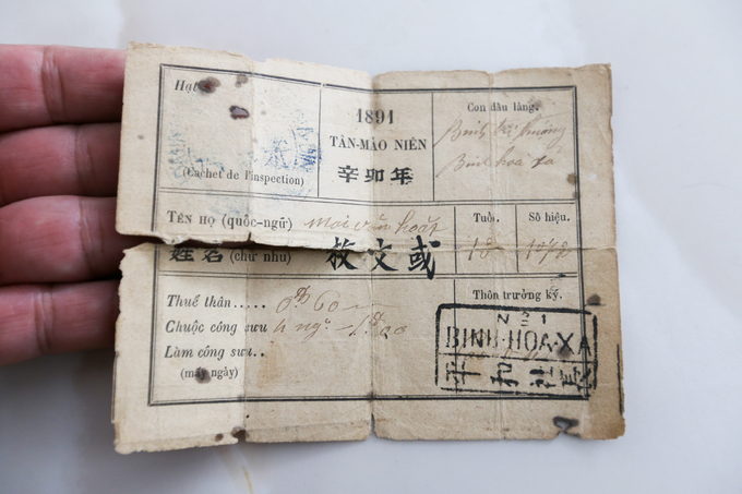 Saigon man keeps tabs on old receipts and other papers - 7