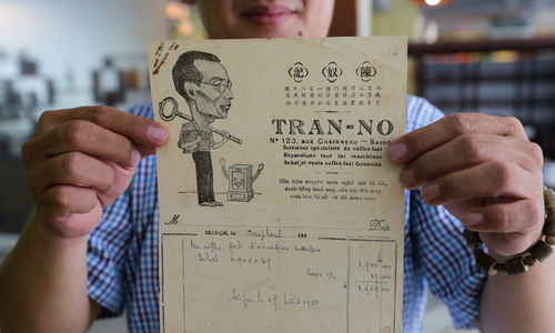 Saigon man keeps tabs on old receipts and other papers