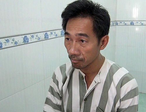 Cambodian suspect Kouch Pheng Leng. Photo by VnExpress/Nhat Vy