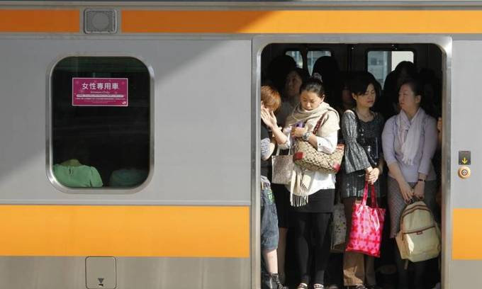 Women in Tokyo strongly back single sex transport amid security fears