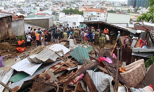 Typhoon Toraji aftermath: popular Vietnam beach town inundated