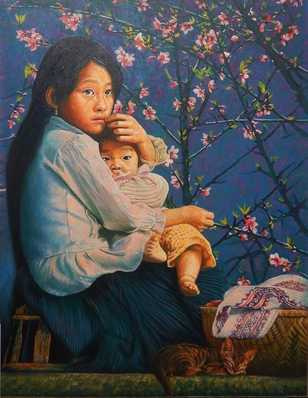 Oil paintings depict beauty of highland life in Vietnam